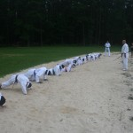 karate bootcamp beach pushups