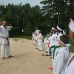 karate bootcamp beach kihon