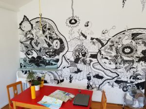 The wall in my apartment in Porto.